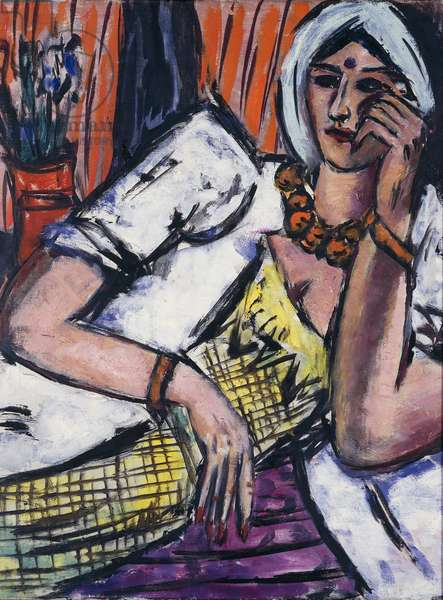 Indiana, 1944, by Max Beckmann (1884-1950), oil on canvas. Germany, 20th century.