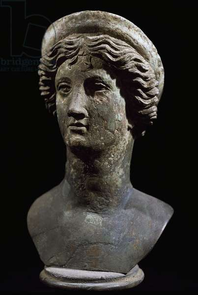 Female head in bronze from Pompeii, Campania, Italy Roman Civilization, 1st century