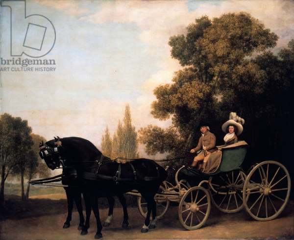 Gentleman driving Lady in Phaeton, 1787 (oil on canvas)