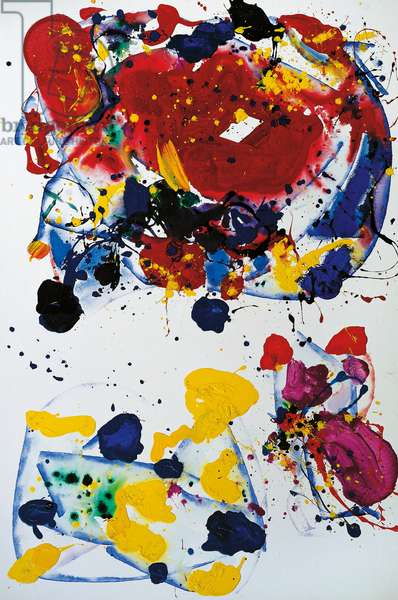 Untitled, 1986, by Sam Francis (1923-1994). United States of America, 20th century.