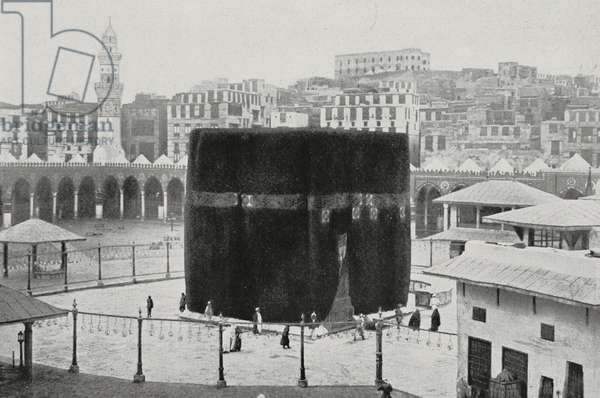 The Ka'ba in the courtyard of the Great Mosque, Mecca, Saudi Arabia, photo from L'Illustration, No 3428, November 7, 1908