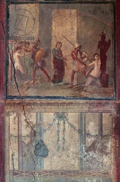 Fresco, House of Menander, Pompeii (UNESCO World Heritage Site, 1997), Italy, Roman civilization, 3rd century BC-1st century AD