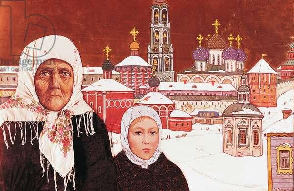 Zagorsk, by Il'ya of Glazunov (1930). Russia, 20th century.