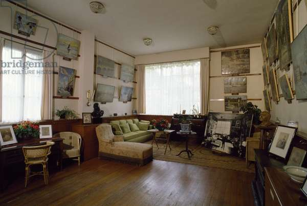 Studio in the house of Claude Monet (1840-1926), Giverny, Haute-Normandie, France