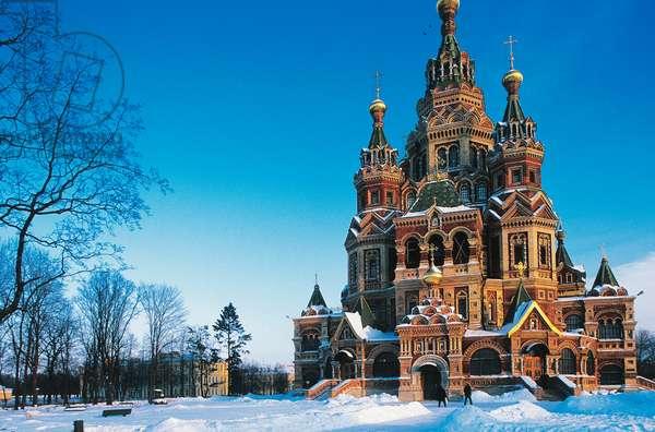 Peter and Paul Cathedral, 1895-1905, Peterhof (Petrodvorec), Russia