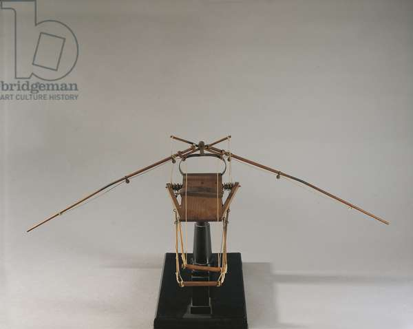 Reconstruction of da Vinci's design for a flying machine (wood, leather & string)