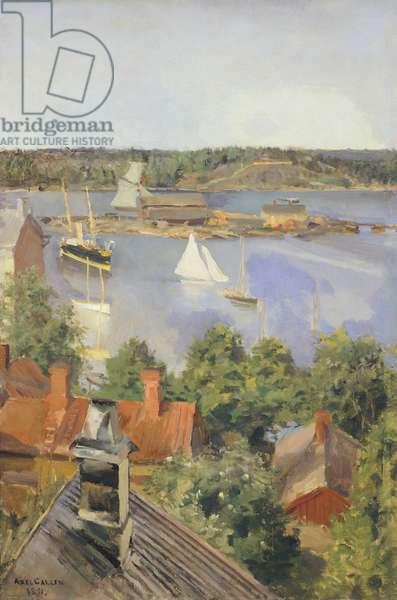 North Harbor, Helsinki by Akseli Gallen-Kallela, Finland 19th century