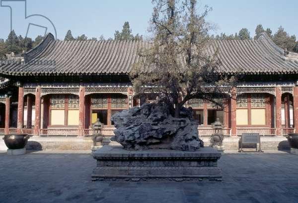 Pavilion in Garden of Virtue and Harmony, Summer palace (Unesco World Heritage List, 1998), Beijing, China, 19th century (photo)