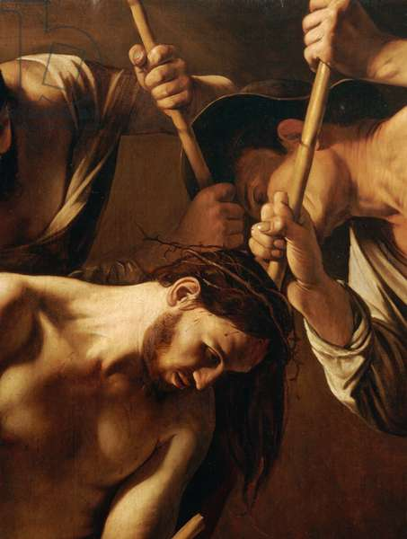 The Crowning with Thorns, c.1603 (oil on canvas) (detail of 507206)