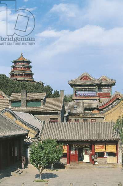 China - Beijing. Imperial Summer Palace (UNESCO World Heritage List, 1998). Longevity Hill