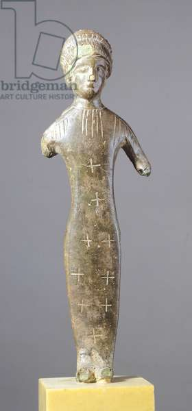 Female figure making an offering. Etruscan Civilization, 500-450 BC.