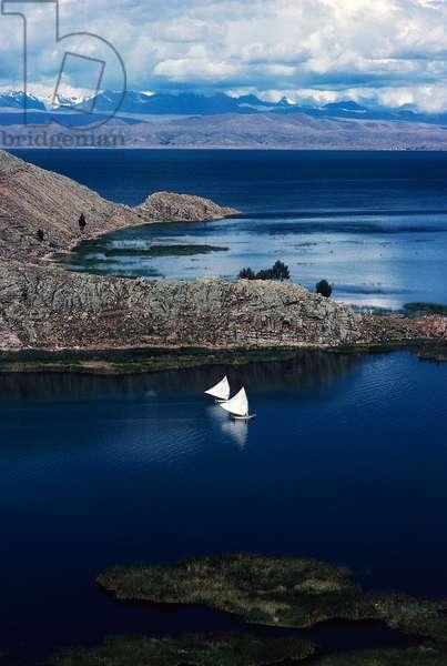 Suriqui Island, Lake Titicaca, Andes, Bolivia (photo)