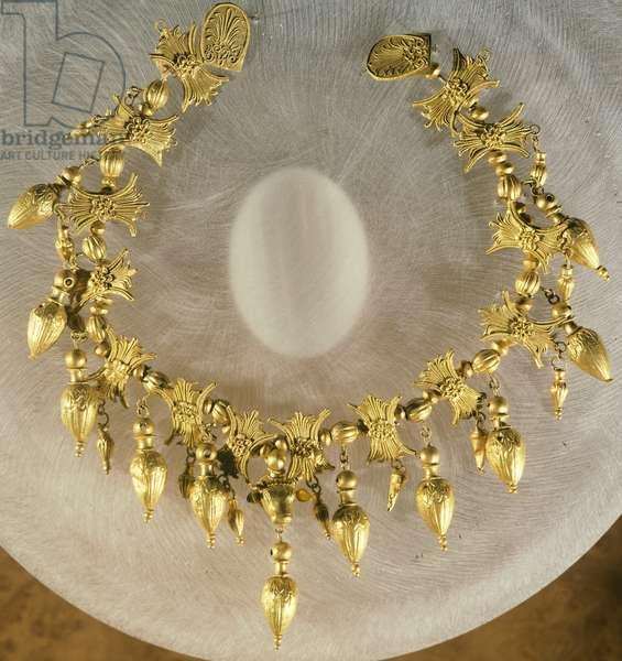 Gold necklace, Goldsmith art, Greek-Scythian Civilization, 4th Century BC