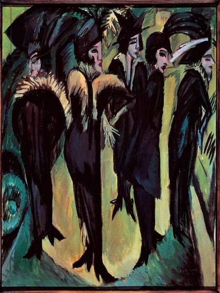 Five Women on the Street, 1913 (oil on canvas)