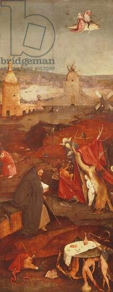 Temptation of Saint Anthony Triptych, by Hieronymus Bosch (ca 1450-1516), 131,5x119 cm, Detail