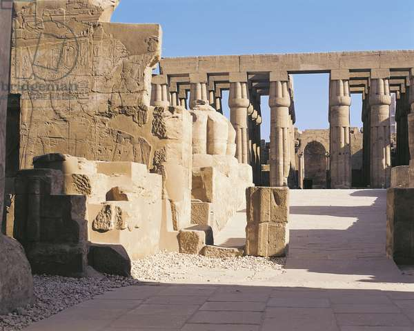 Egypt - Ancient Thebes (UNESCO World Heritage List, 1979). Luxor. Temple of Amon. Court of Amenhotep III, 1402-1364 BC