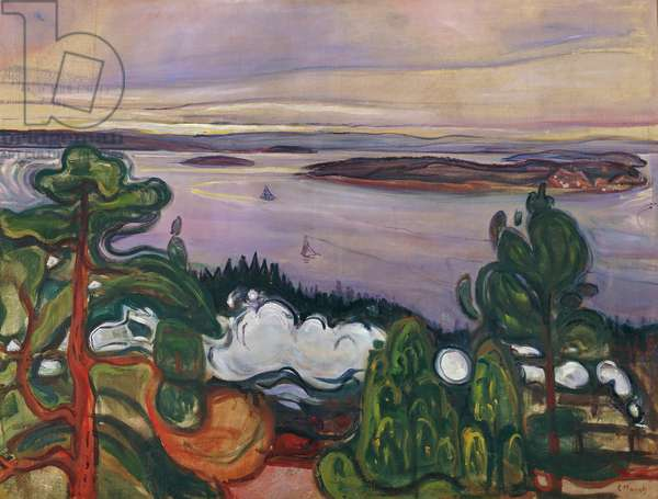 Train smoke, 1900, by Edvard Munch (1863-1944), oil on canvas, 84x109 cm??. Norway, 20th century.