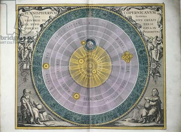 Planisphere of the universe according to Nicolaus Copernicus, 1473-1543