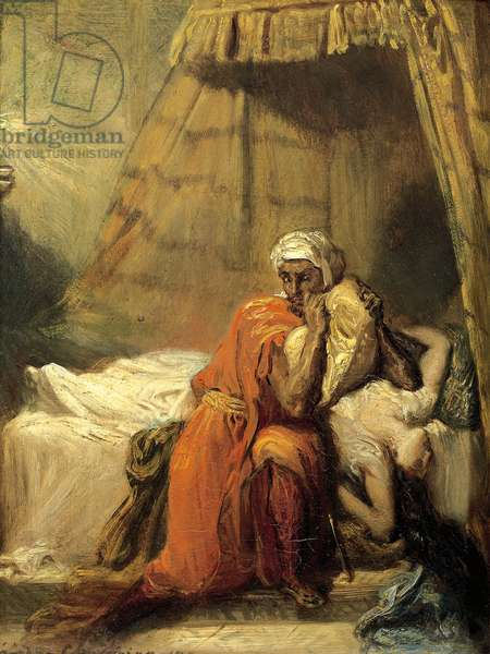 La cour d'or, Othello and Desdemona. 1849
