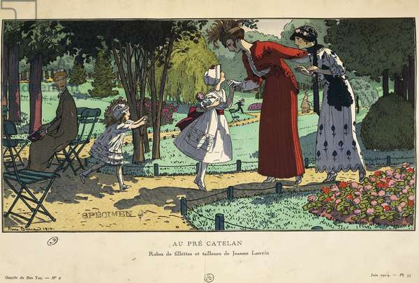Children's suits and dresses by Jeanne-Marie Lanvin, Extract from the periodical La gazzette du Bon Ton, 1914