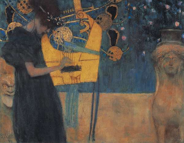 Music (Die Musik), 1895, by Gustav Klimt (1862-1918), cartoon for Stoclet Frieze, 37x44 cm