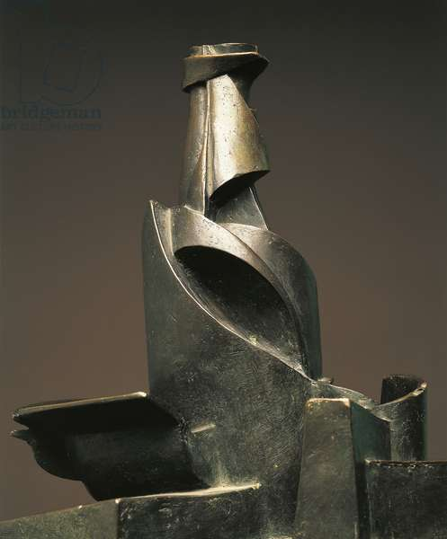 Development of Bottle in Space, by Umberto Boccioni (1882-1916), 1912