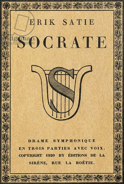 Title page of Socrates, 1920, symphonic drama in three parts by Erik Satie (1866-1925)