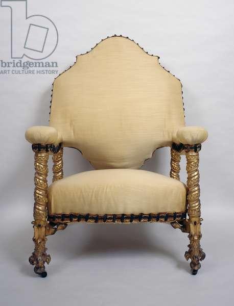 Upholstered armchair, Art nouveau style (modernism). Spain, 20th century.