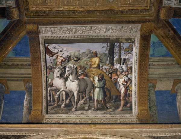 Triumph of David, 1518-1519, workshop of Raphael (1483-1520), fresco, Raphael Loggias, Apostolic Palace, Vatican City