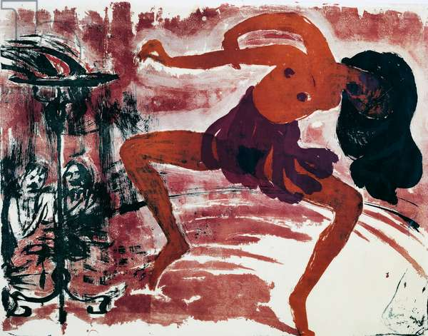 Female dancer, 1910-1913, by Emil Nolde (1867-1956), watercolour. Germany, 20th century.