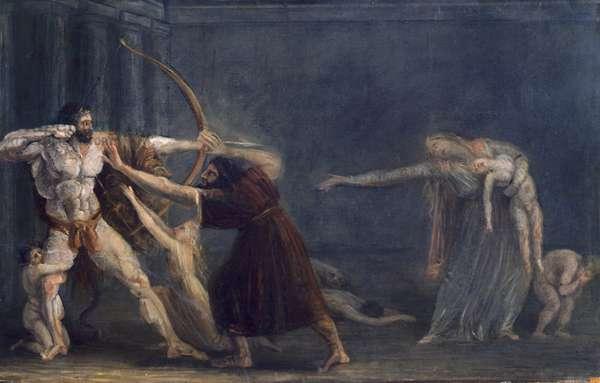 Hercules Firing Arrows at his Children by Antonio Canova (1757-1822)