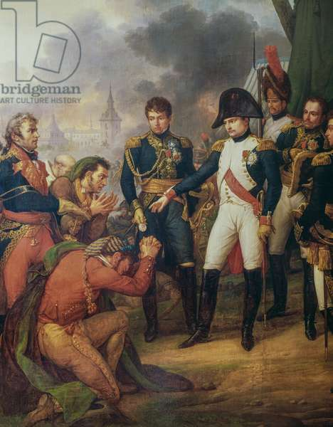 Napoleon Bonaparte on the outskirts of Madrid, December 7, 1808, painting by Carle Vernet, France, Napoleonic Wars, 19th century, Detail