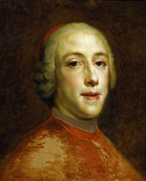 Portrait of Henry Benedict Marie Clement Edward Stuart, Cardinal York, by Anton Raphael Mengs, Circa 1756, 1728-1779, oil on canvas, 44x35 cm