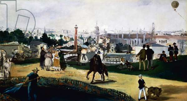 Edouard Manet (1832-1883), View of the Universal Exposition in Paris, 1867, oil on canvas. France, 19th century.