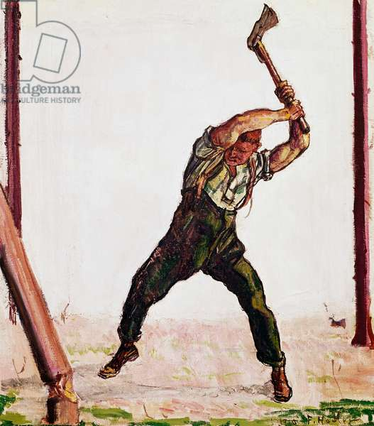 Woodcutter, 1910 by Ferdinand Hodler (1853-1918), oil on canvas, Switzerland, 20th century