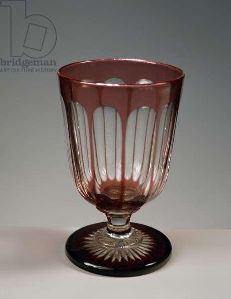 Crystal liqueur glass, France, 20th century