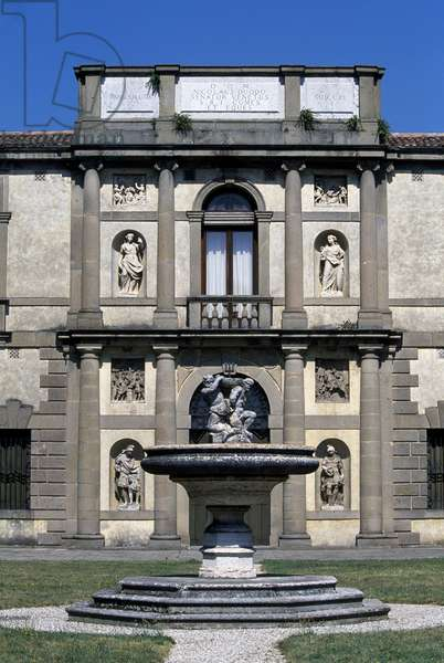 Villa Duodo Valier (1592-1593), architecture, Vincenzo Scamozzi,, Monselice, Veneto, Italy, Detail