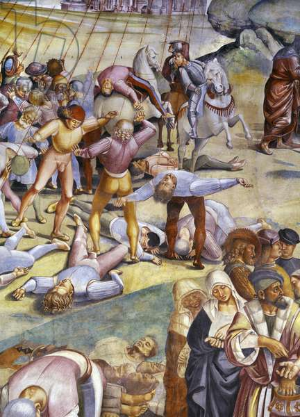 Sermon and Deeds of the Antichrist from Last Judgment cycle (detail), 1499-1504 (fresco)