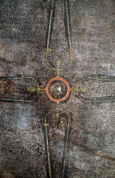 Decorative element from a fresco in the tablinum, Villa of the Mysteries, Pompeii (UNESCO World Heritage List, 1997), Campania, Italy. Roman civilization, 1st century BC Detail