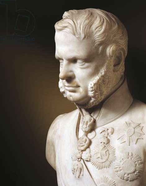 Bust of Leopold II, Grand Duke of Tuscany (Florence, 1797-Rome, 1870), by Ottavio Giovannozzi (active 1820-1848)