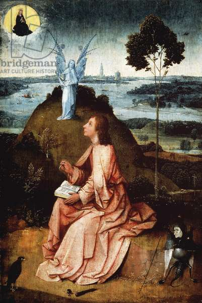 St John on Patmos, 1485, by Hieronymus Bosch (circa 1450-1516), oil on panel
