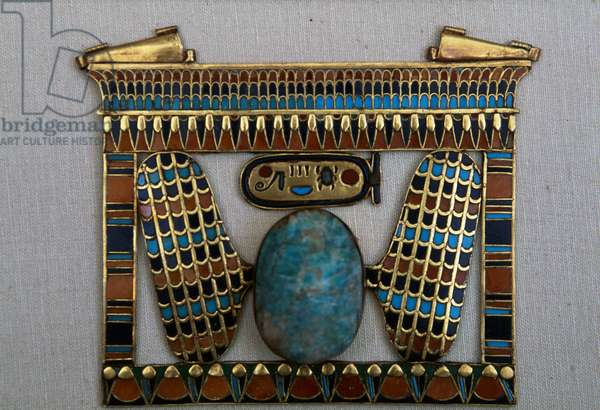 Temple-shaped breastplate, Treasury of Tutankhamun, Egypt, Egyptian civilization, New Kingdom, Dynasty XVIII