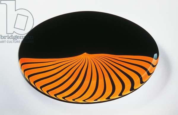 Janus, oval vase, 1984, Lino Tagliapietra (1934-), opaque glass, Effetre International glassworks, Italy, 20th century