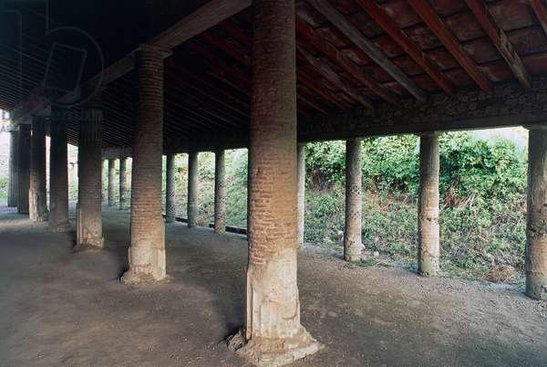 Portico of Villa of Mysteries, Pompeii (UNESCO World Heritage Site, 1997), Italy, Roman civilization, 2nd century BC-1st century AD