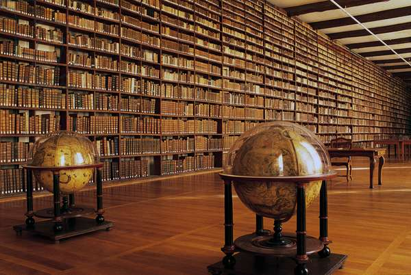 Library of Abbey of Saint-Loup, Troyes, Champagne-Ardenne, France, 17th-18th century
