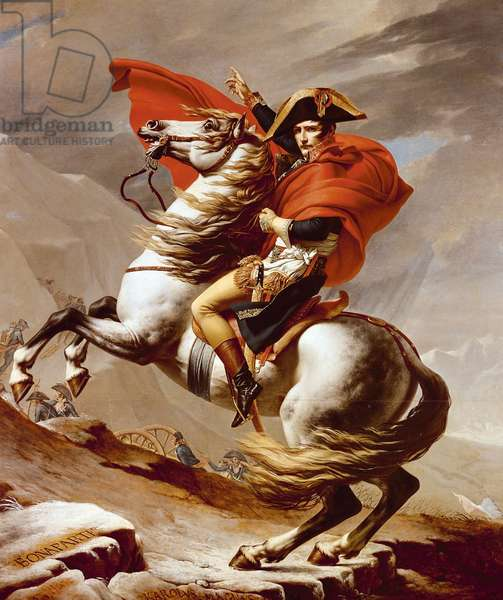 Napoleon Crossing the Alps, May 1800, 1802-03 (oil on canvas)