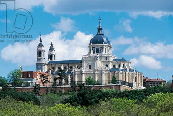 The Almudena Cathedral (Cathedral of Saint Mary Royal of La Almudena), 19th century, Madrid, Spain
