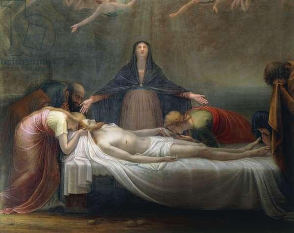 Lamentation over the Dead Christ, by Antonio Canova, detail, 1798-99, oil on canvas