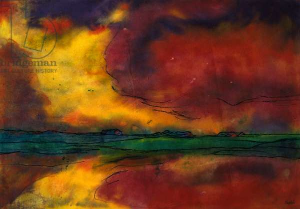 Evening red cloud, undated, by Emil Nolde (1867-1956). Germany, 20th century.