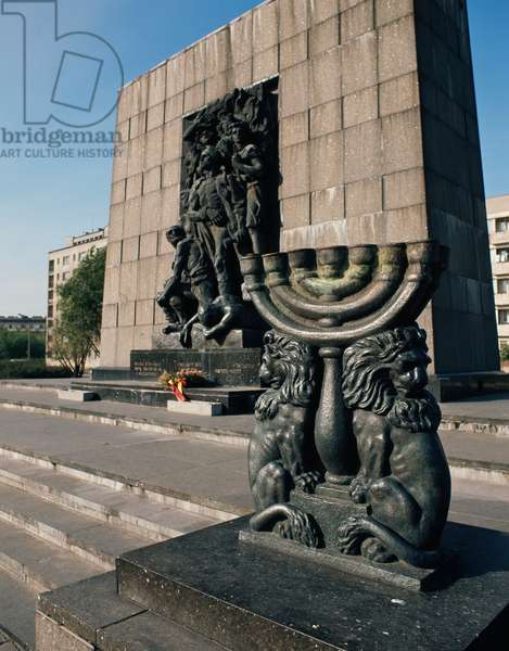 Warsaw Ghetto Uprising Monument, Warsaw, Poland, 20th century
